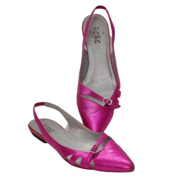 *3 For $25* BCBG Metallic Pink Slingback Flats